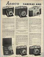 1957 PAPER AD 2 PG Ansco Camera Super Memar Regent 35MM Mini Miniature Speedex