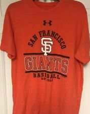 Under Armour Loose Heat Gear San Francisco Giants MLB Orange T-Shirt, Mens L