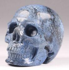 5.2cms Dumortierite Carved Crystal Skull. 106g