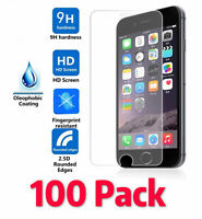 100x Premium Real Tempered Glass Screen Protector Guard for iPhone Samsung LG