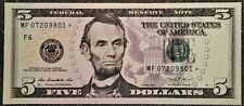 1x Crisp New Sequential Uncirculated 2013 Five Dollar ($5) * Star * Note