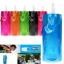 Collapsible Folding Bottle Water Plastic Outdoor Sport Bag Cups Foldable
