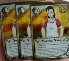 3x Yoshino Nara [As A Mother] N724 Rare - Foil Naruto CCG TCG