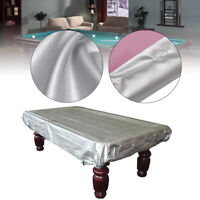 8Ft Silver Billiards Snooker Pool Table Cover Anti-Dust Waterproof 250cmx140cm