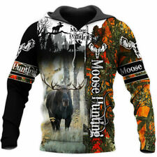 Moose Hunting Hunter 3D All Over Printed Shirt Pullover Hoodie Unisex S-5XL