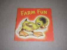 FARM FUN. A DINKY BOOK. 1940's ILLUSTRATED MINIATURE CHILDREN'S BOOK