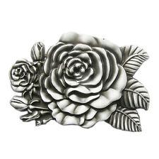 Men Belt Buckle Western Rose Flower Gurtelschnalle Boucle de ceinture