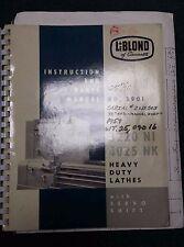 LEBLOND HEAVY DUTY LATHE 3220 NI 4025 NK INSTALLATION & PARTS MANUAL