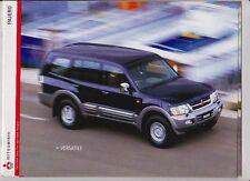 2002 MITSUBISHI PAJERO Australian 16p Brochure 8p DiD & 8p Specs MONTERO SHOGUN