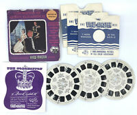 Viewmaster Reel x 3 Coronation Queen Elizabeth 1953 Set Sawyers Pamphlet Packet