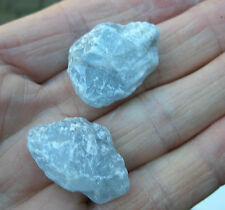 2 - BLUE CELESTITE ROUGH RAW UNPOLISHED CRYSTALS 20mm - 25mm GIFT BAG & ID CARD