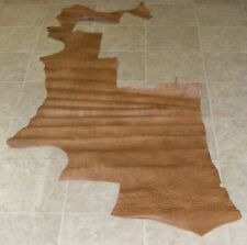 New listing (Uza7085-3) Hide of Natural Light Brown Reptile Print Cow Leather Hide Skin