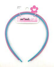 Scunci Girl's Thin Plastic Headband, Blue Purple, 2 Count