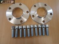 Audi A4 A5 A6 15mm Hubcentric Wheel Spacer Kit 5x112PCD 66.6  With Radius Bolts