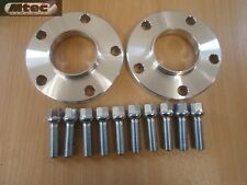 Audi A4 A5 20mm Hubcentric Wheel Spacer Kit 5x112PCD 66.6  With Radius Bolts