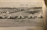 Vintage WW1 Yard Long Original Panoramic Photograph Tent City Camp Custer 1918