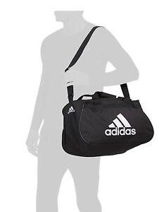 NWT ADIDAS DIABLO SMALL DUFFEL Gym Bag For Women/Men/Big Boy Classic Black/White