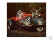 Altes Blechschild Oldtimer Motor_roller Goggo_Mobil Gespann Reklame Werbung used