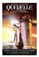 QUERELLE Movie POSTER 27x40 Brad Davis Jeanne Moreau Franco Nero Laurent Malet