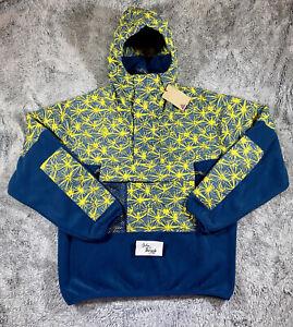 Nike ACG Fleece 1/2 Zip Anorak Jacket 'Blue Yellow' Men's Size M CK3106-432