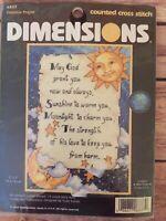 Dimensions CELESTIAL PRAYER Counted Cross Stitch Kit #6837 sun moon stars