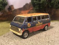 1970 Ford Club Wagon Van Rusty Weathered Custom 1/64 Diecast Car Barn Find Rust