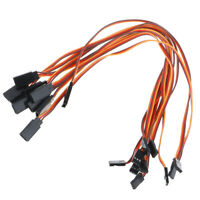 10Pcs 30cm Servo Extension Lead Wire Cable For RC Futaba JR Male to Female 3 N_N