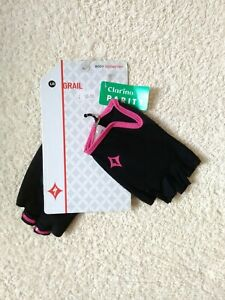 Specialized Grail cycling Mitts. Women's Lg, New, black / lilac