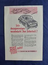 Fiat 1100 - Prospekt Brochure 1953