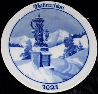 """1921 ROSENTHAL WEIHNACHTSTELLER """"WEIHNACHTEN IM GEBIRGE/JUPP WIERTZ"""" TOP 1. WAHL"""