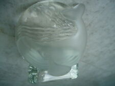 Partylite Frosted Glass Whale On A Clear Glass Votive Candle Holder 4 ½� X 3� X