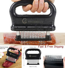 Meat Tenderizer with 48 Stainless Steel Ultra Sharp Needle Blades  Cooking Tool