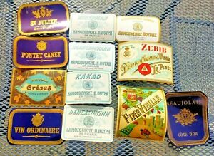 Collection of 12x Early 20th Century Wine Bottle Advertising Product Labels (c)