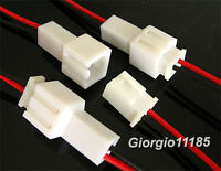 10x Power Jack Plug 2 Pin Wire & Socket Connector Lead