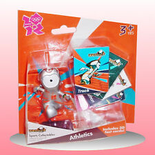 London 2012 - Wenlock Action Figure Athletics Olympic Track with 3D Cards - New