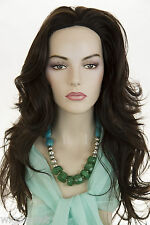 Premium Quality Glamorous Natural Looking Long Straight Wavy Skin Top Wig 26 in.