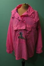 90er nineties Ski Anorak pink Hoody Gr 42 / XL rosa rot Damen