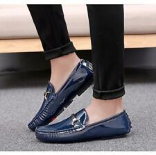 Men's Breathable Moccasin Gommino Driving Slip On Loafers Patent Leather Shoes