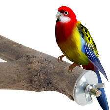 2Pcs Wooden Parrot Bird Cage Perches Stand Tree Branch Pet Budgie Hanging Toy NX