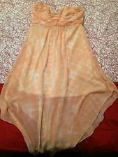 Target Hot Option Size 10 Womens Dress Peach Ladies Knee Length Strapless