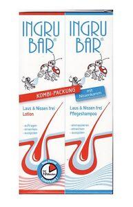 Ingrubar Läuse-Shampoo 150ml + Lotion 150ml Läuse Laus & Nissen frei