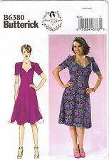 Vtg 40s Retro Sweetheart Neck Gathered Bust Sew Pattern by Gertie 14 16 18 20 22