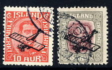 ICELAND 1928-29 Airmail overprint set, used