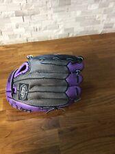 """Louisville Slugger EZ-LOC DV14-HU 11"""" Diva Series Purple Glove LH Thrower"""