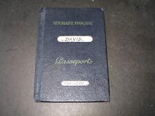 Ancien Passeport Français  année 1956  Sousse Tunis. Bel état