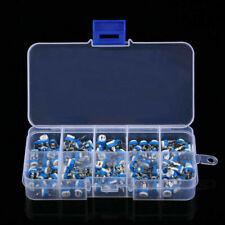 100pcs 10 Value Potentiometer Trimpot Variable Resistor Assortment Box Kit S90