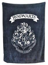 HARRY POTTER BLACK HOGWARTS CREST FLEECE THROW BLANKET SNUGGLE