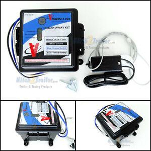 VISION LED Trailer Electric Break Away Brake Kit 12V Battery Charger Breakaway