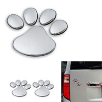 New Dog Paw Foot Prints 2Pcs/Set Sticker Bear 3D Glossy Car Window Body Decal