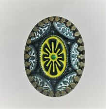 UNIQUE BLACK GLASS BEAD HAND PAINTED HATPIN